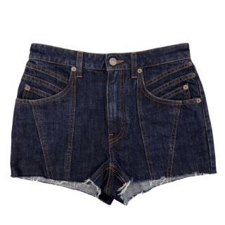 Givenchy navy blue mini shorts
