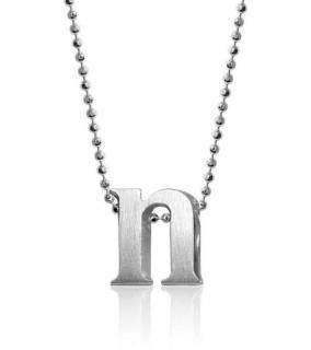 Alex Woo silver N pendant