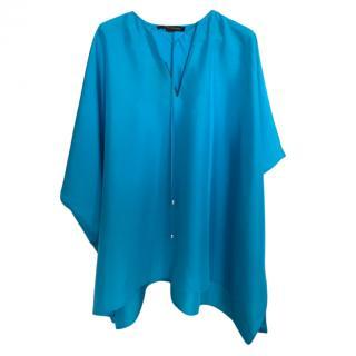Ralph Lauren Black Label Turquoise SIlk Tunic