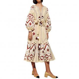 March11 Kilim Embroidered Midi Dress