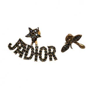 Dior J�adior Bee Asymmetrical Earrings