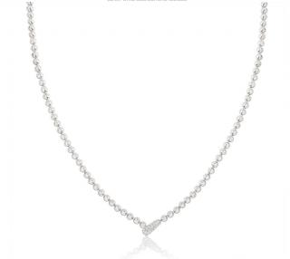Cartier White Gold Diamond Necklace