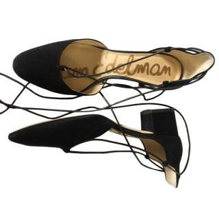 Sam Edelman Lace-Up Black Sandals