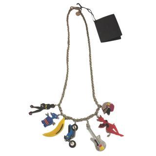 Prada Robot Charm Necklace