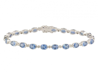Bespoke Topaz and Diamond Line Bracelet