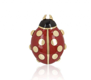 Cartier Ladybug Pin in Red & Yellow Gold