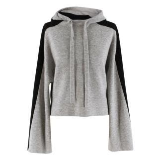 Zoe Jordan Alfaro Cashmere Blend Cropped Grey Colourblock Jumper