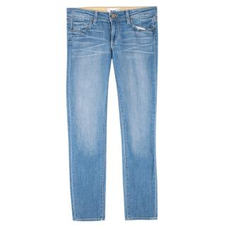 Paige Blue Denim Skyline Ankle Peg Jeans