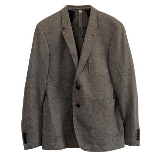 Burberry Houndstooth Single Breasted Jacket.