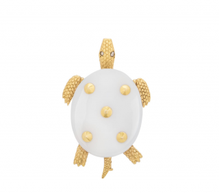 Cartier Gold Turtle Pin Brooch