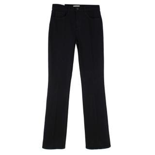 L'Agence Oriana High Rise Straight Black Denim Jeans