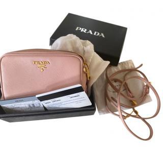 Prada Blush Saffiano Leather Camera Crossbody Bag