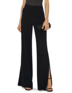 Cushnie Et Ochs Black Tuxedo Split Wide Leg Pants
