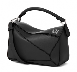 Loewe Puzzle Small Bag in Black Soft Leather