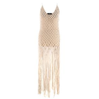 Poustovit Sand Crochet Dress