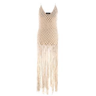 Poustovit Sand Crochet Dress
