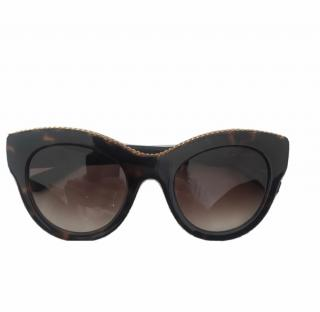 Stella McCartney tortoise shell print acetate sunglasses