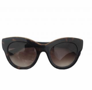 Stella McCartney tortoise shell print acetate sunglasses