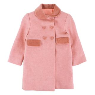 Rigans Pink wool double breasted winter coat