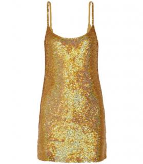 Ashish Sequined Silk-georgette Mini Dress