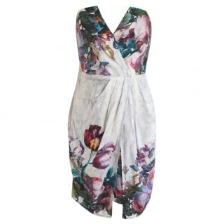 Zimmermann Silk Floral Print Strapless Mini Dress