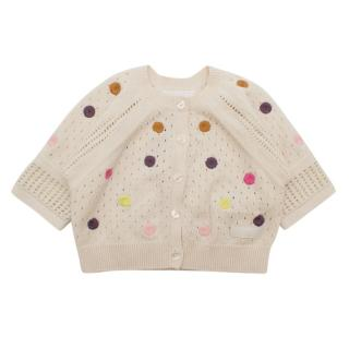 Burberry Children's Embroidered Cashmere Blend Cardigan