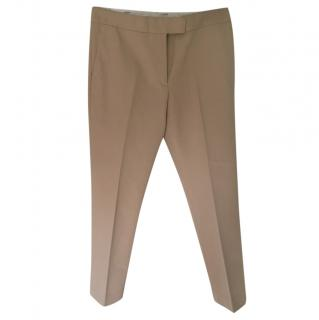 Joseph Beige Tailored Ankle Crop Pants
