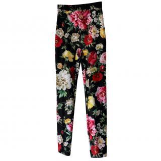 Dolce & Gabbana Floral Print Leggings