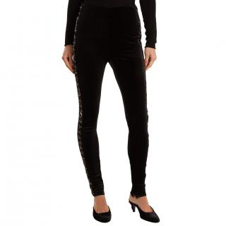 Koche Bead-embellished Velvet Leggings