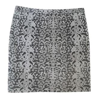 Gucci Black Lace Printed Mini Skirt