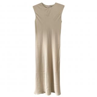 Protagnonist Beige Fitted Sleeveless Dress