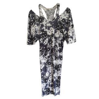 Stella McCartney Floral Print Cold-Shoulder Dress