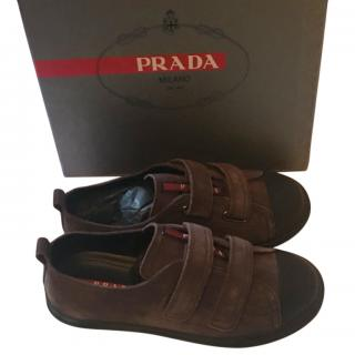 Prada Boy's Graphite Sneakers