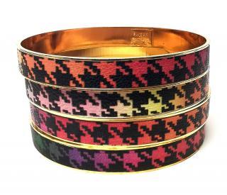 Bijoux De Famille Houndstooth Stacking Bracelets