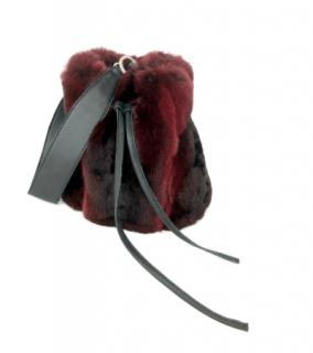 FurbySD Red Chinchilla Fur Clutch/Wrist Bag