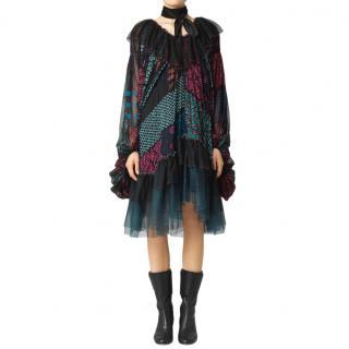 Chloe silk runway dress