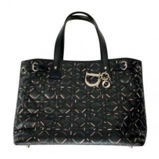 Dior Cannage Patent Leather Panarea Tote Bag
