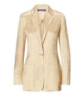 Ralph Lauren Collection Single Breasted Augustine Unlined Jacket