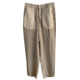 Rick Owens Silk Crepe Blend Pants