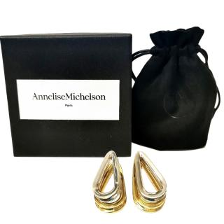 Annelise Mitchelson Gold & Silver Tone Ellipse Earrings