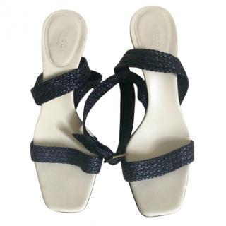 Gucci Vintage Braided Strappy Sandals