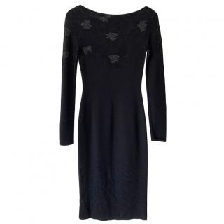 Azzaro Floral Woven Panelled Fitted Dress