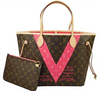 Louis Vuitton Neverfull MM Monogram V Grenade Tote Bag