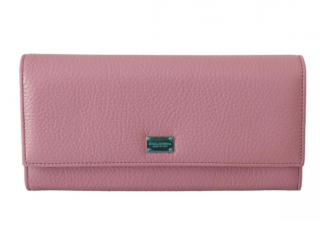 Dolce & Gabbana Pink Leather Continental Wallet