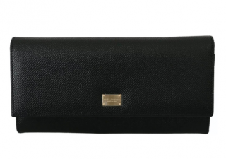 Dolce & Gabbana Black Leather Continental Wallet
