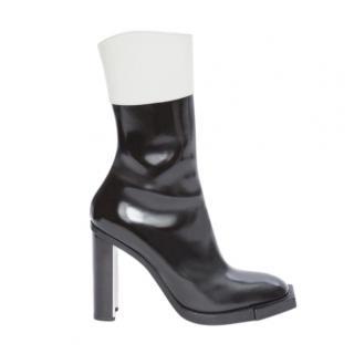 Alexander McQueen Black & White Runway Hybrid Boots