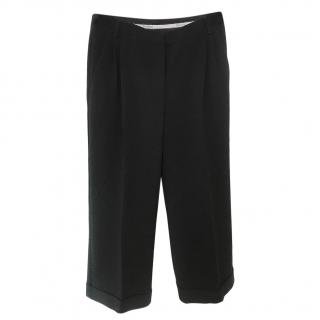 Max Mara Black Straight Leg Pants
