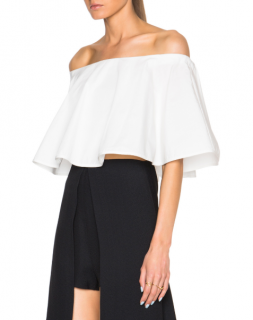 Rosetta Getty Off The Shoulder Circle Top