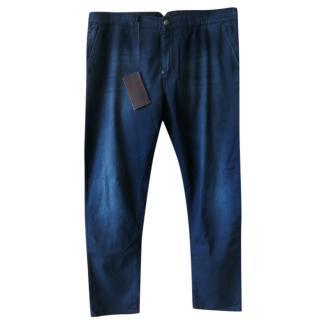 Isaia Napoli (Kiton) dark blue jeans/trousers