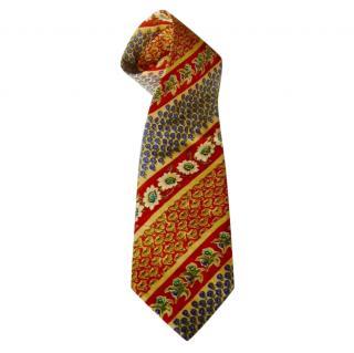 YSL vintage printed silk tie